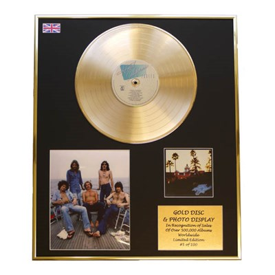 Eagles Hotel California Framed CD on Gold Disc Display Ltd Edition of 100 Only