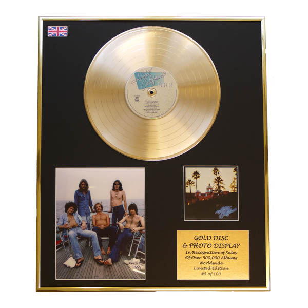 Eagles Hotel California Framed CD on Gold Disc Display Ltd Edition of 100 Only No Colour