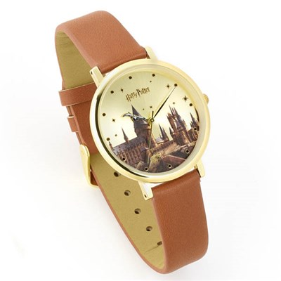 Harry Potter Hogwarts Castle Watch Gold Plated