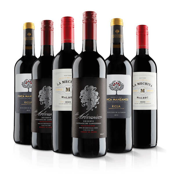 Virgin Wines Luxury Red Wine Six Pack No Colour