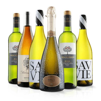 Luxury White Wine Six Pack with Prosecco