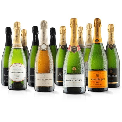 Virgin Wines Luxurious 12 bottle Champagne selection