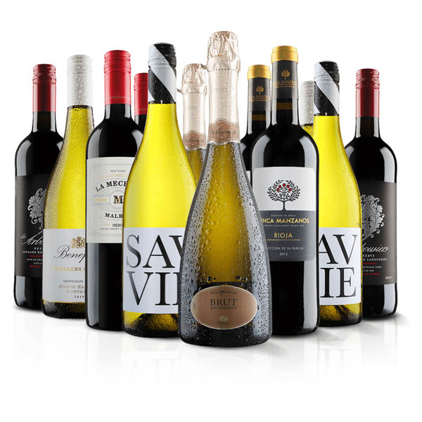 Virgin Wines Luxury 12 Bottle Mixed Wine Selection No Colour