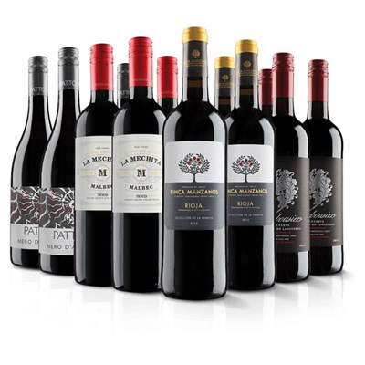 VIrgin Wines Luxury 12 Bottle Red Wine Selection