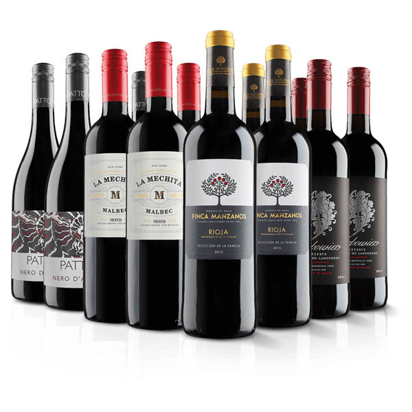 VIrgin Wines Luxury 12 Bottle Red Wine Selection No Colour
