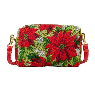 Signare Hip Party Bag - Xmas Poinsettias