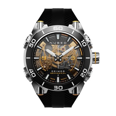 Nubeo Gents Deimos Mechanical Watch on Silicone Strap