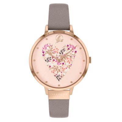 Sara Miller Ditsy Collection Watch with Leather Strap SA2098