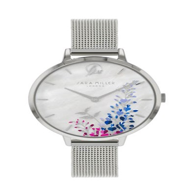 Sara Miller The Wisteria Collection Watch with Mesh Strap SA4031