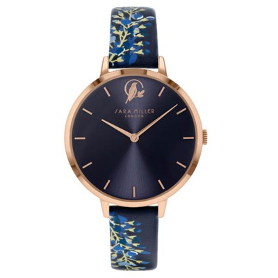 Sara Miller The Wisteria Collection Watch with Leather Strap SA2050