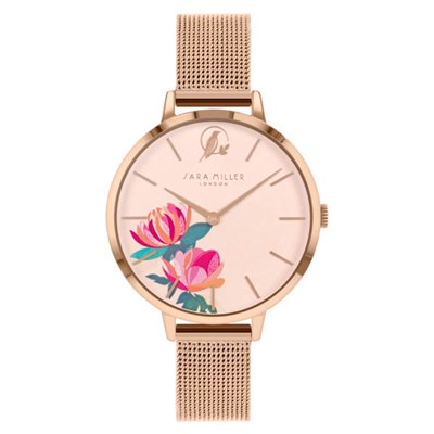 Sara Miller The Peony Collection Watch with Mesh Strap SA4034