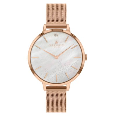 Sara Miller The Diamond Collection Watch with Mesh Strap SA4018