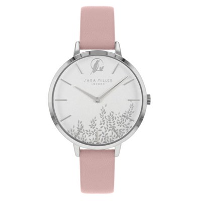 Sara Miller The Gold Leaf Collection Watch with Leather Strap SA2027
