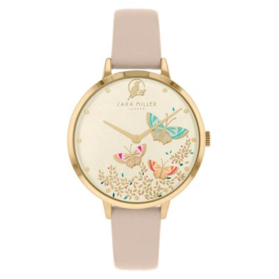 Sara Miller The Kew Collection Watch with Leather Strap SA2082