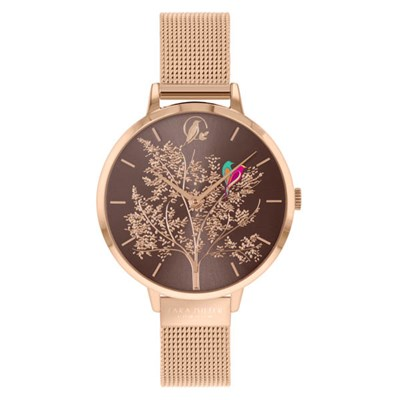 Sara Miller Chelsea Collection Watch with Gold Plated Mesh Strap SA4086