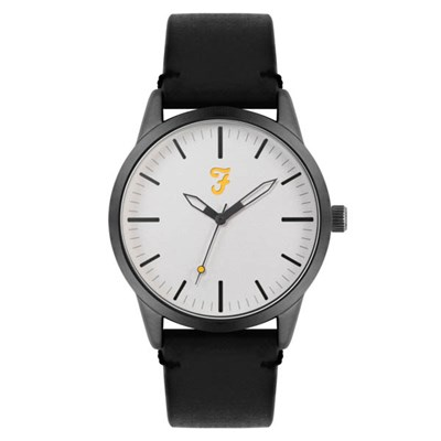 Farah Classic Watch with Genuine Leather Strap