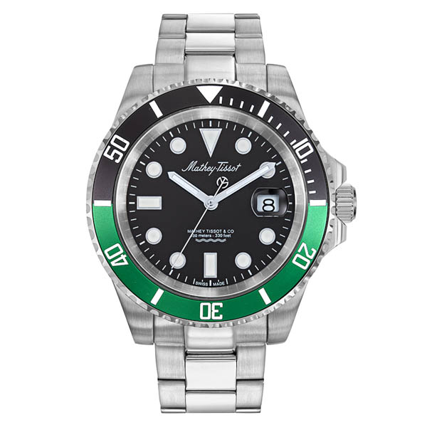 Image of Mathey Tissot Gents Jumbo Rolly Watch on Stainless Steel Bracelet