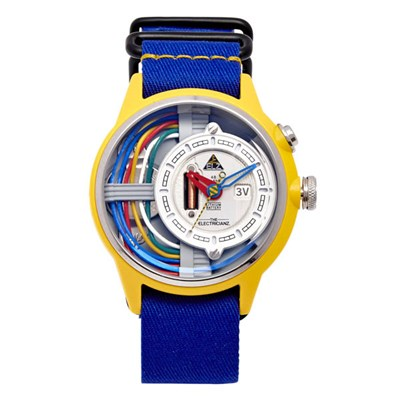 The Electricianz Electric Art Cable Z Watch with Nato Strap