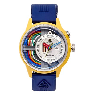 The Electricianz Electric Art Cable Z Watch with Silicone Strap