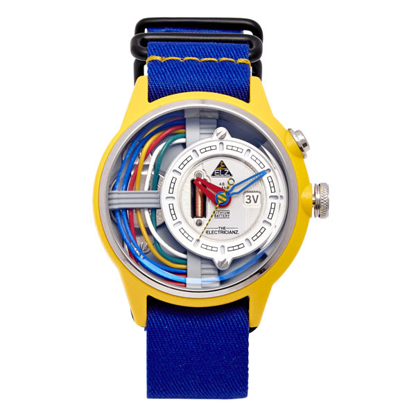 The Electricianz Electric Art Cable Z Watch with Nato Strap No Colour