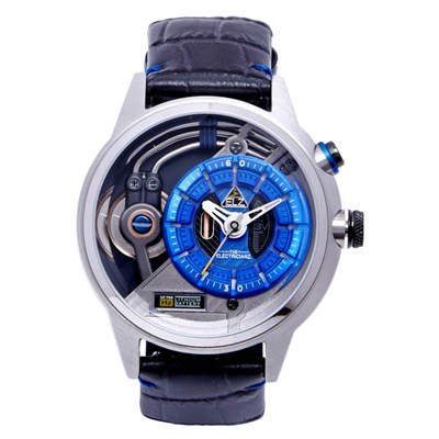 The Electricianz Electric Code Stone Z Watch with Leather Strap
