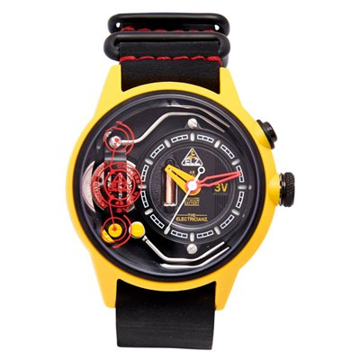 The Electricianz Electric Art Ammeter Watch with Leather Strap