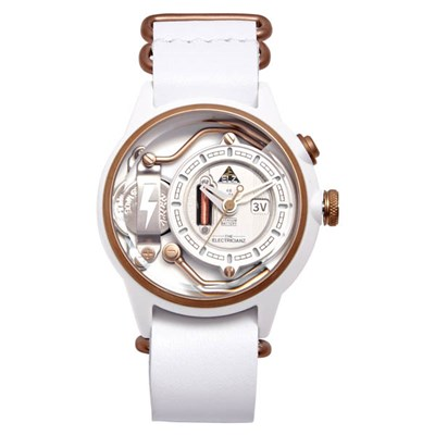 The Electricianz Electric Code Snow Watch with Leather Strap and Extra Strap