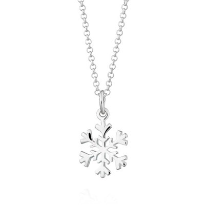 Lily Charmed Sterling Silver Snowflake Necklace