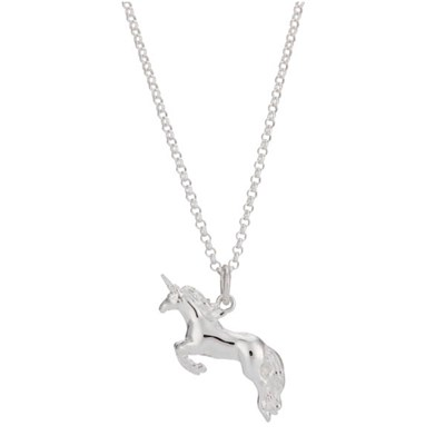 Lily Charmed Sterling Silver Unicorn Necklace