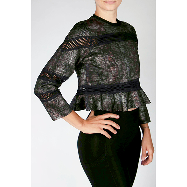 TLC Reversible Frill Jumper Snake/Grey