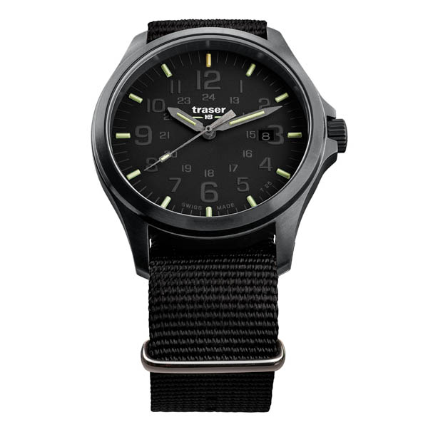 Traser Gents Swiss Made P67 Officer Pro Watch, Nato Strap Black