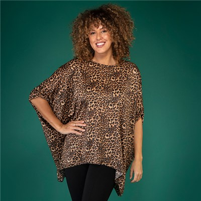 Animal Print Batwing Top