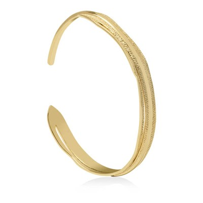 Sara Miller 18ct GP Leaf Bangle