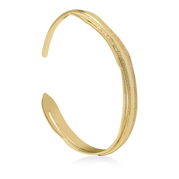 Sara Miller 18ct GP Leaf Bangle No Colour