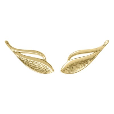 Sara Miller 18ct GP Leaf Stud Earrings