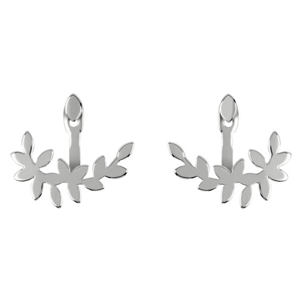 Sara Miller Leaf Reverse Earrings No Colour