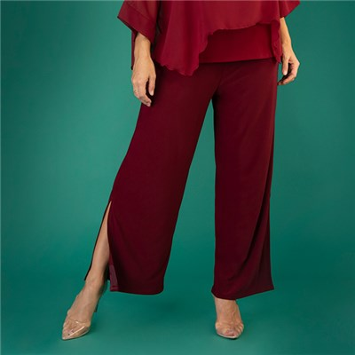 Firenzaa Collection Palazzo Trouser with Split Detail