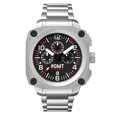 RGMT Gent's Altimeter Chronograph Watch with Stainless Steel Bracelet