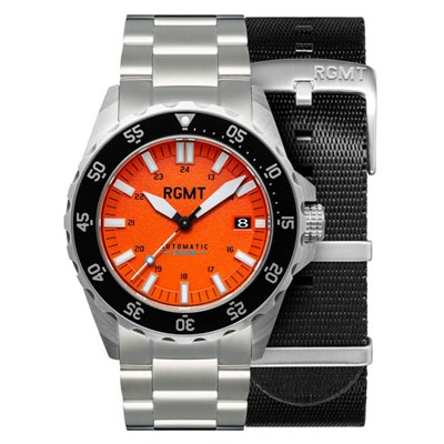 RGMT Gent's SDV Automatic Watch with Stainless Steel Bracelet & Extra Strap