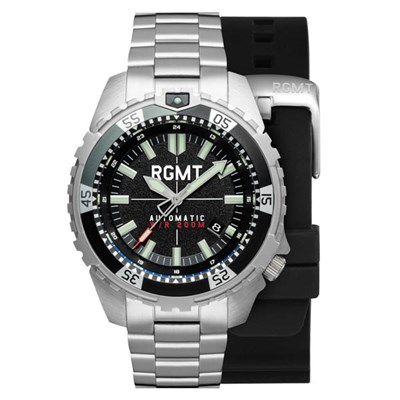 RGMT Gent's Recon Automatic Watch with Stainless Steel Bracelet & Extra Strap