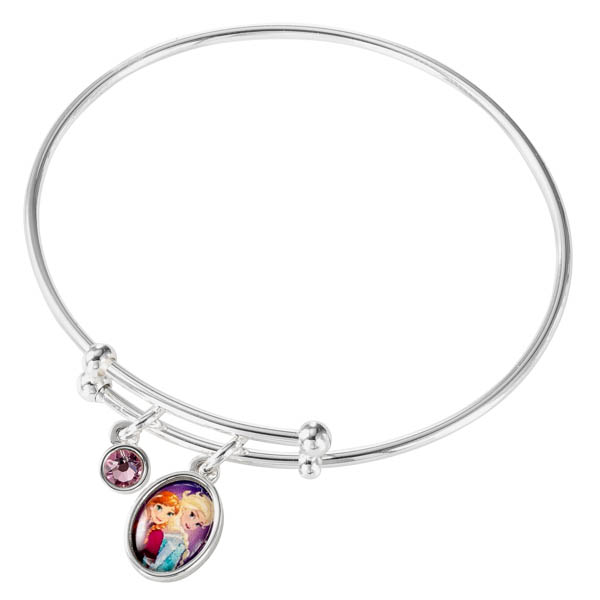 Disney Frozen Silver Plated Elsa & Anna Bangle No Colour