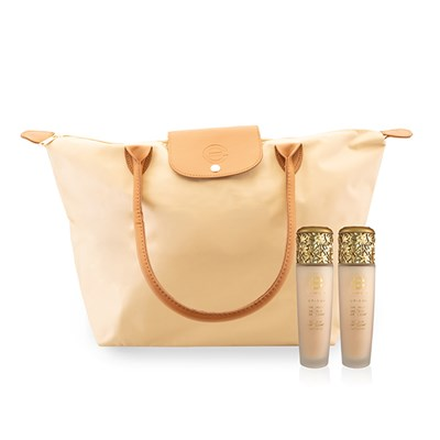Elizabeth Grant Torricelumn Triple Effect 145ml Duo with Beige Bag