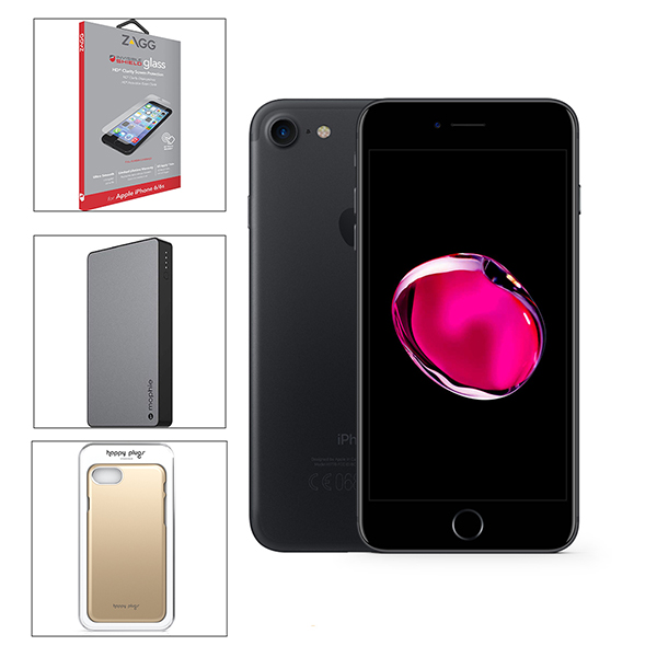 AzTech Apple iPhone 7 (128GB) Pre-Owned Smartphone Bundled with Accessories 3 Black