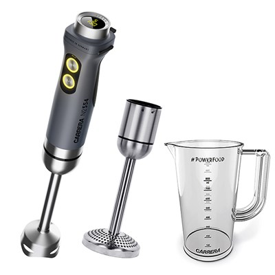Carrera Handheld Blender 554 with Potato Masher Attachment and BPA Free Measuring Jug