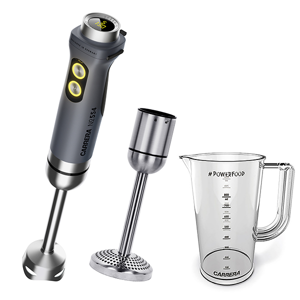 Carrera Handheld Blender 554 with Potato Masher Attachment and BPA Free Measuring Jug No Colour
