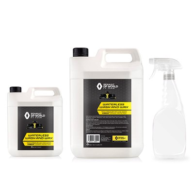Renault F1 Waterless Wash and Wax 7.5L Bundle with 750ml Spray Bottle