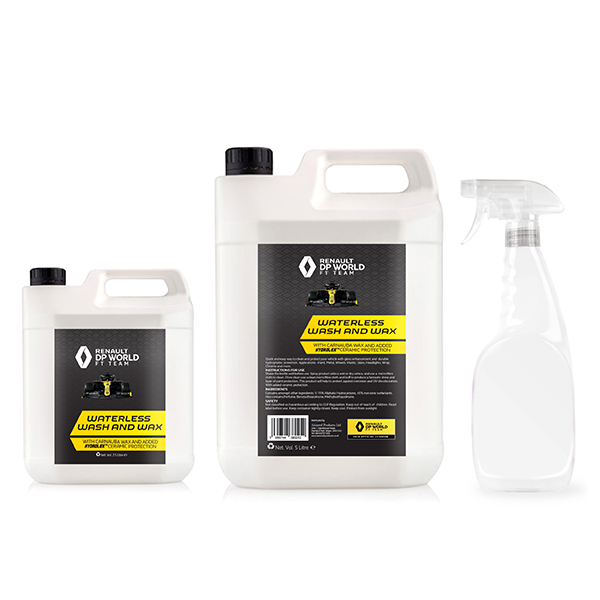 Renault F1 Waterless Wash and Wax 7.5L Bundle with 750ml Spray Bottle No Colour