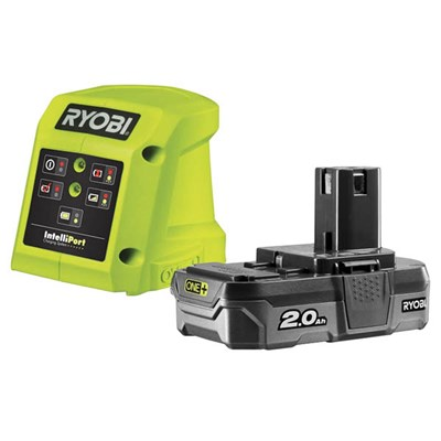 Ryobi 18v One+ 2.0Ah Battery and Charger