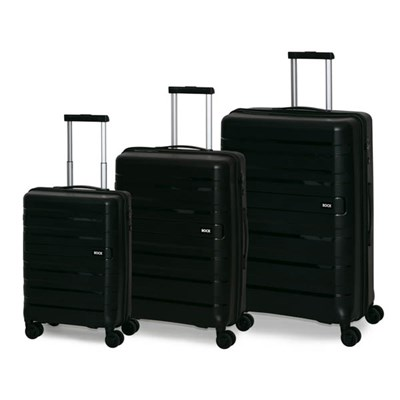 3-Piece Rock London Skylar Ultra-Strong Hard Shell Luggage Set