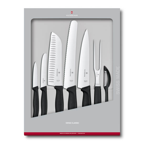 Victornox Swiss Classic Kitchen Knife Set - 7 Piece No Colour
